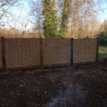 Hazel fence panels