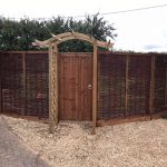 Hazel fence panels