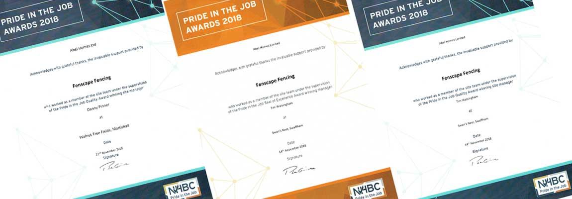 pride in the job awards